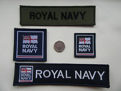 Royal Navy TRF, Service ID Titles,   Morale Patches. x 4 options  New.