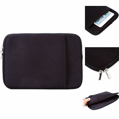 Black Computer Sleeve 15 inch Laptop Carry Case with Pocket Polyester Bag Handle