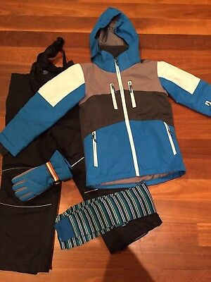 Boys Snow Jacket, Pants, Gloves And Thermals Size 6