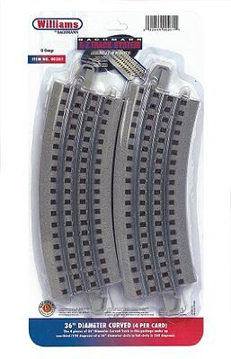 """Williams by Bachmann O Gauge E-Z Track 36"""" Diameter Curved (Pack-4) - O Scale"""