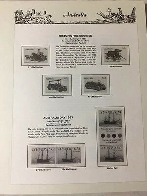 AUSTRALIA 1983- 1990 SEVEN SEAS HINGELESS PAGES - NO STAMPS.           St 11