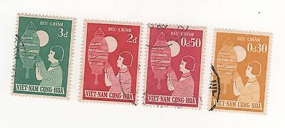1958 South VIETNAM CHILDREN'S FESTIVITIES x 4 to 3d. SG#S58-S61 USED