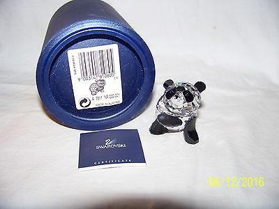 Swarovski Crystal Mother Panda Figurine Retired New In Box 7511Nr000001