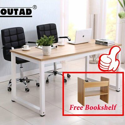 Wood Computer Desk PC Laptop Table Study Workstation Home Office Furniture USA #