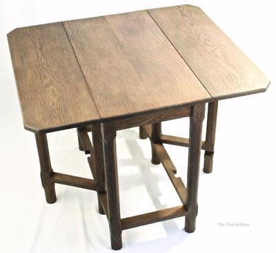 GORDON RUSSELL Antique/Vintage Arts and Crafts Cotswold Tiger Oak Table c. 1930