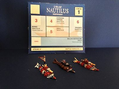 Games Workshop Man O'War Dwarf Nautilus submarines