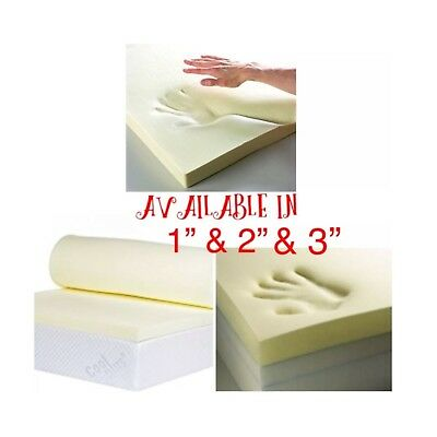 """100 % Memory Foam Mattress Topper Available in 1"""" 2"""" & 3"""" with free delivery"""