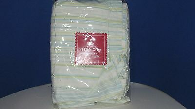 Amy Coe Alphabet Soup Crib skirt dust ruffle blue green yellow baby boy girl