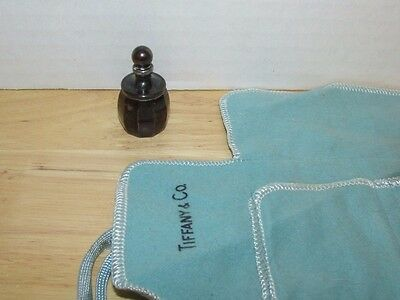 Tiffany & Co. Sterling Silver vintage mini faceted Perfume Bottle w/ roll pouch