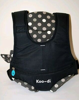 Koo-di Baby Carrier Black/ Polka Dot Trim