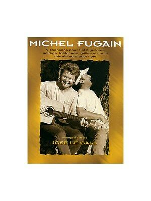 Michel Fugain 9 Chansons Learn to Play Present Gift MUSIC BOOK Guitar Tab