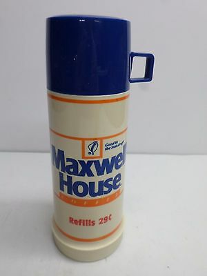 """Vintage """"MAXWELL HOUSE COFFEE"""" HANDY STOP THERMOS BOTTLE  - Never Used/NOS"""