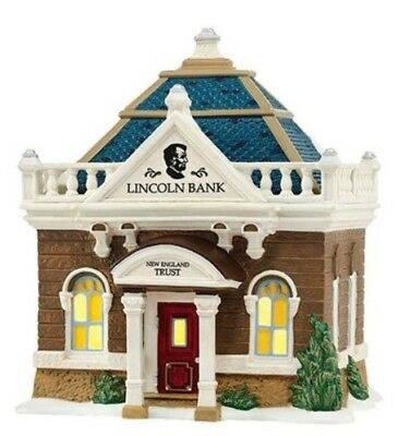 Dept 56 New England Village The Lincoln Bank #4044824  BRAND NEW