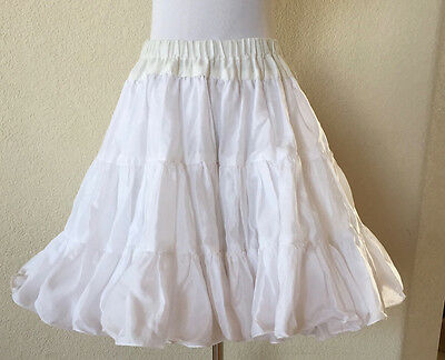 "Great American Square Dance Co White Double Layered Slip M/L 29"" Waist"