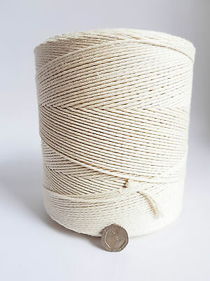 5/64 in twisted cotton cord 1180 yard Macrame cotton rope DIY Jewelry string