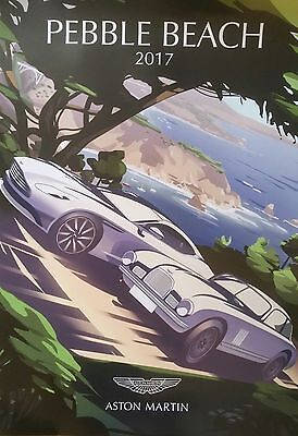 PEBBLE BEACH 2017 CONCOURS ASTON MARTIN Original Limited Edition Poster.
