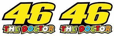 46 THE DOCTOR Valentino Rossi Vinyl Sticker decals 75 x 45 mm Set Of 2