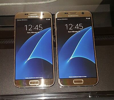 Samsung Galaxy S7 Display Dummy Phones 1 New & 1 Used (No Connectivity)