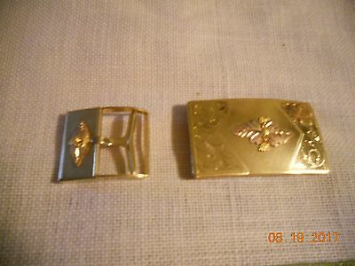 Wow!!!! Must See!!!!!!!!!!!!2 Woman Black Hills Gold Belt Buckles