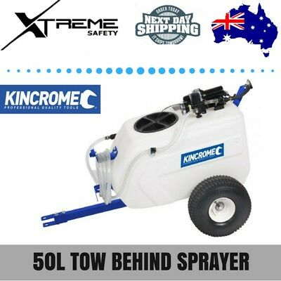 Kincrome 50L Tow Behind Broadcast and Spot Sprayer - 12V with B/cast Nozzle