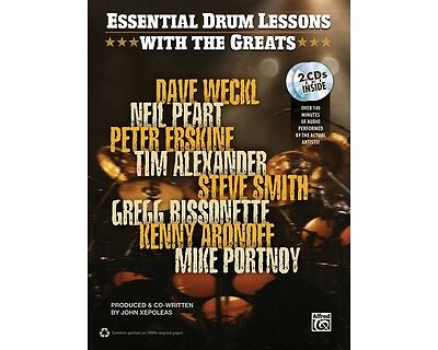 Essential Drum Lessons with the Greats Book & CD