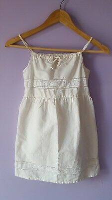 Vintage Girl's Cream Embroidered Sundress