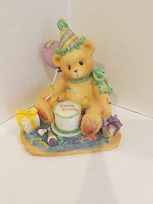 "Cherished Teddies- ""you're The Frosting On The Birthday Cake"" Figurine - #306398"