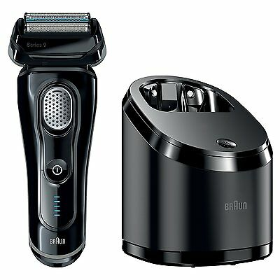 Braun Series 9 9075cc Electric Shaver + Clean&Charge Station + 3 FluidCartridges