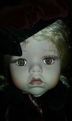 """Porcelain """"Seymour mann"""" Collector doll Only 7500 made. Hand made."""