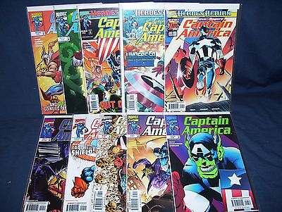 Captain America  #1 - #10 Vol. 3 Marvel Comics NM with Bag and Board