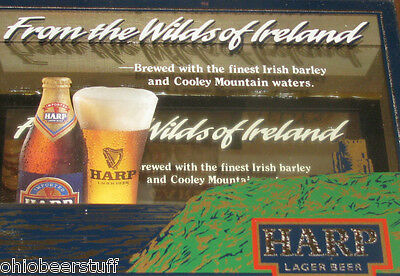 Harp Lager Pub Bar  Beer  Sign Wilds Of Ireland Guinness Cooley Irish