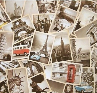 32 PCS 1 Set Vintage Retro Old Travel Postcards for Worth Collecting New