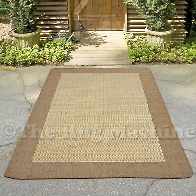 AVA BROWN BEIGE PLAIN INDOOR OUTDOOR NON-SLIP MODERN FLOOR RUG 120x170cm **NEW**