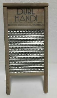 Dubl Handi Columbus Washboard Co Hand Wash Laundry Vintage Bath Decor