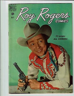 Roy Rogers Comics 29 Dell 1950 Fn Sharp Photo Cover