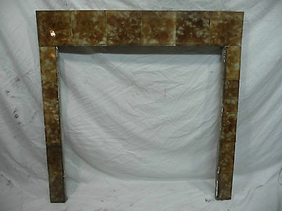 Antique TRENT Fireplace Tile Surround - Circa 1885 Architectural Salvage