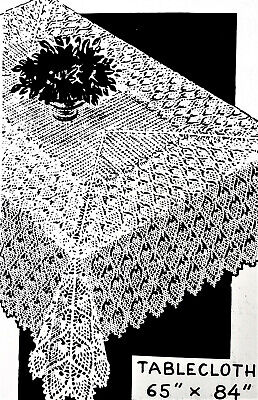 2467 Vintage Design PINEAPPLE TABLECLOTH Pattern to Crochet (Reproduction)