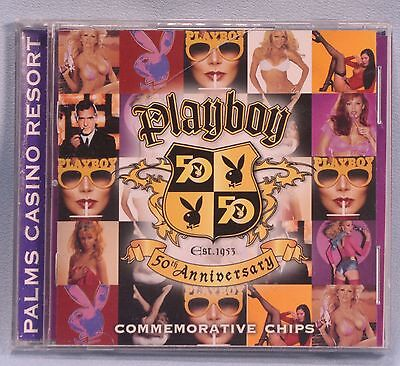 Playboy Magazine 50th Anniversary Chip Holder Palms Casino. Holder only no chips