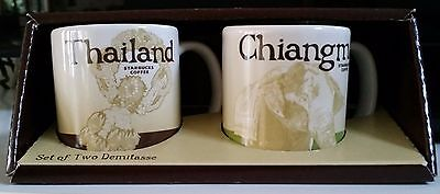 Starbucks Thailand & Chiangmai Demitasse Mug Set Mint Unused