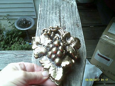 "Vintage Solid Brass 6"" Long 5"" Wide Heavy Door Knocker Grape Design"