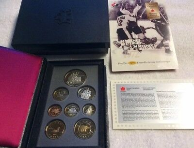 1997 CANADA SILVER 8 COIN PROOF SET CANADA/USSR HOCKEY 25th Anniversary 1972