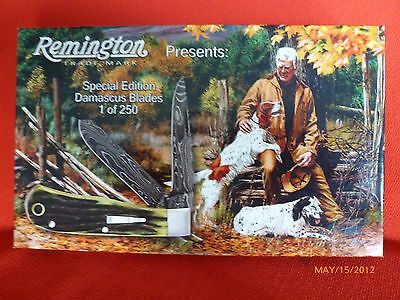 "Remington 2012 Damascus (R1173) ""old Faithful"" Baby Bullet Knife - New In Box"