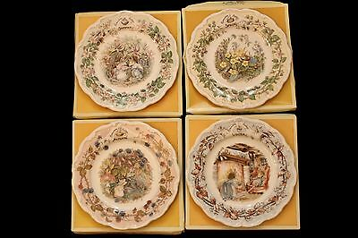 Vintage Royal Doulton Brambly Hedge Seasons Collector Plates x 4 - In Box - GVC