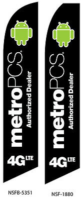MetroPCS Authorized Dealer 4GLTESwooper Feather Flag Sign Kit