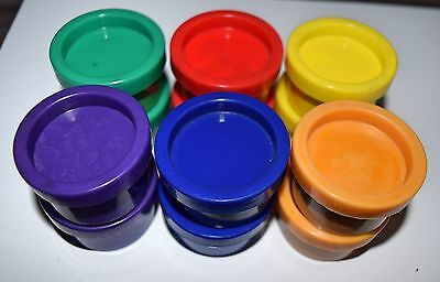 12 x KIDS FINGER PAINTS TUBS WASHABLE NON-TOXIC ART CRAFT 22ml
