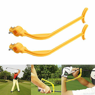 Golf practice Swing Plane Alignment Training Aid Golf Guide Training Tool he17