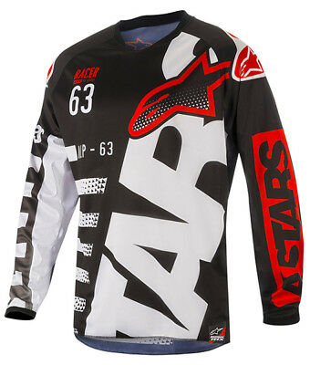 2018 Alpinestars Racer Braap Jersey Black/White