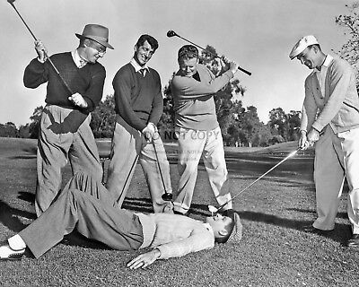 """Dean Martin & Jerry Lewis In The Film """"The Caddy""""  8X10 Publicity Photo (Op-146)"""