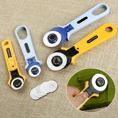 Sewing Quilting Patchwork Manual Cloth Cutting Knife Roller Wheel Round Cutter