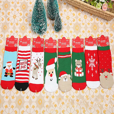 Xmas Santa Winter Warm Christmas Warm Cotton Socks Toddler Baby Girl Boy Gifts